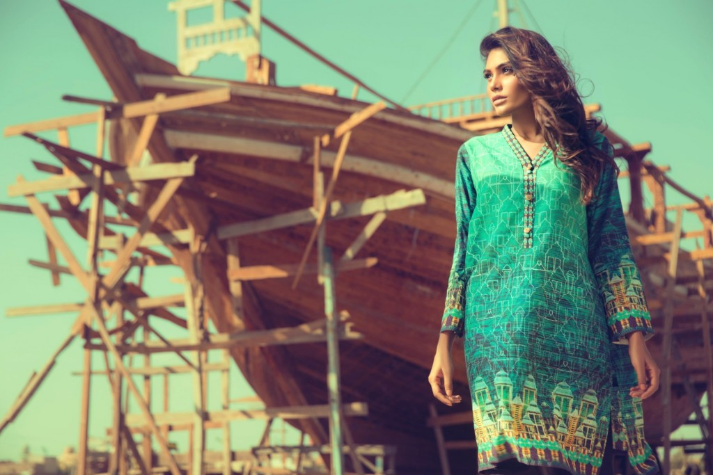 Gul Ahmed Latest Women Summer Pret Dresses Collection 2016-2017 (7)