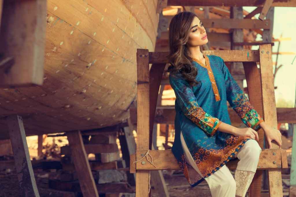 Gul Ahmed Latest Women Summer Pret Dresses Collection 2016-2017 (8)