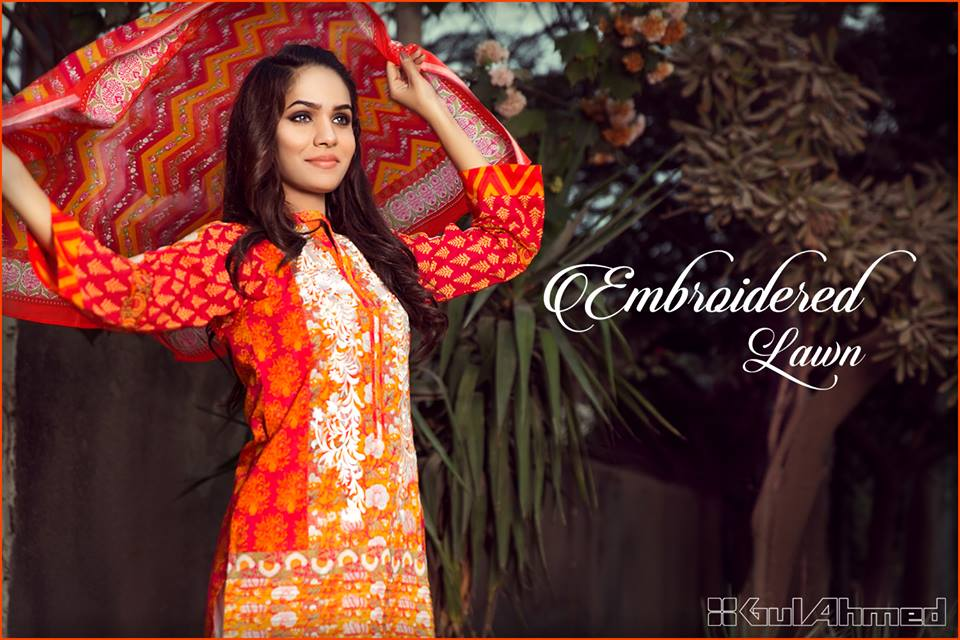 Gul Ahmed Summer Embroidered Lawn Dresses Collection 2017-2018 (20)