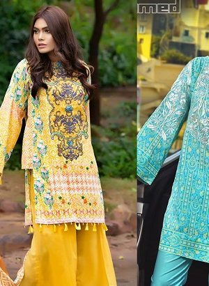 Gul Ahmed Summer Embroidered Lawn Dresses Collection 2017-2018