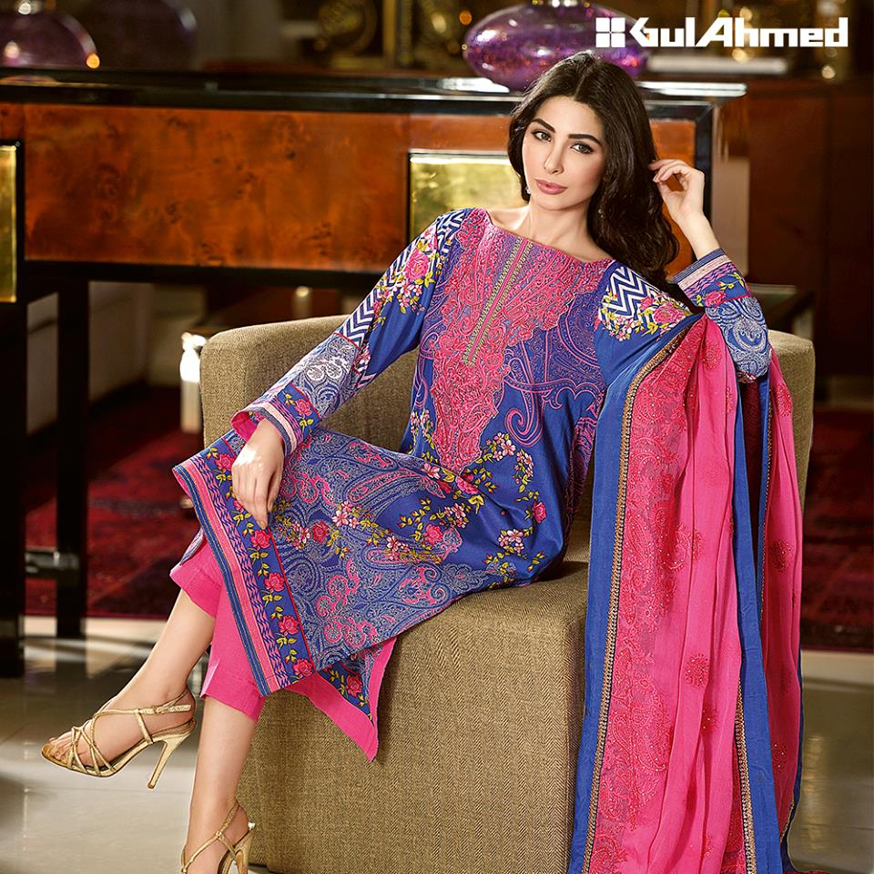 Gul Ahmed Summer Lawn Dresses Collection 2016-2017 (3)