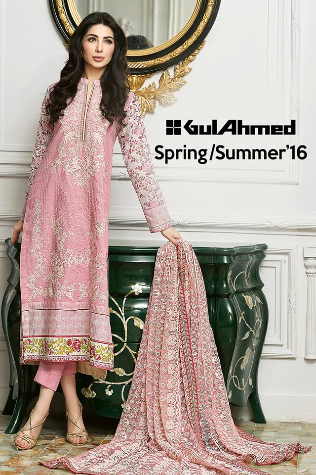 Gul Ahmed Summer Embroidered Lawn Collection 2016 2017