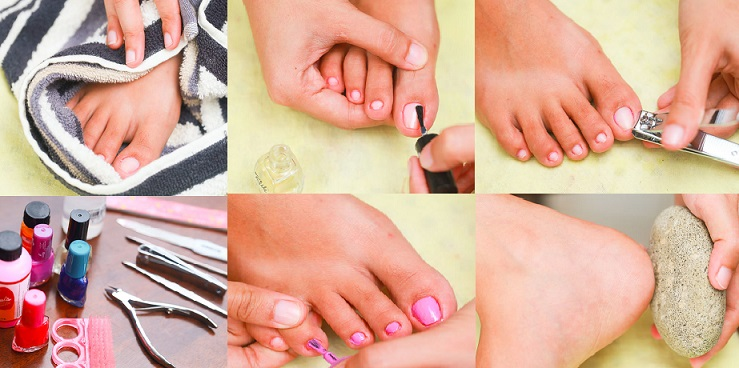 How to do a Perfect & Best Pedicure at home by Yourself- Step by Step Tutorial