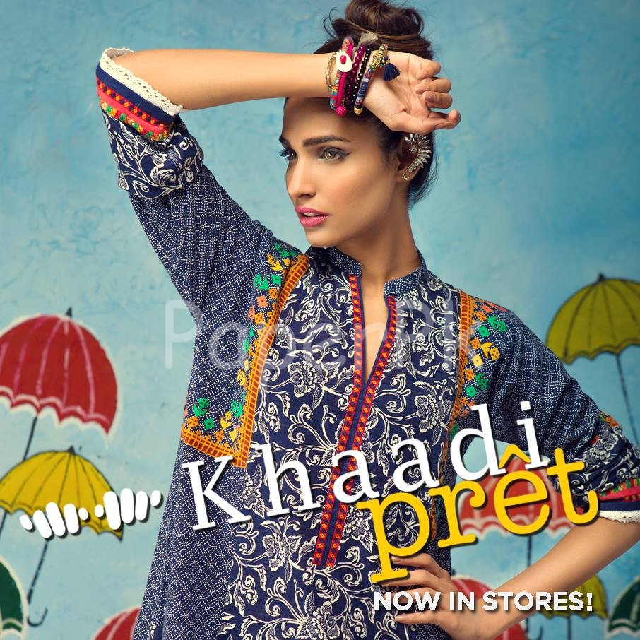 Khaadi Latest Women Summer Pret Dresses Collection 2016-2017 (1)