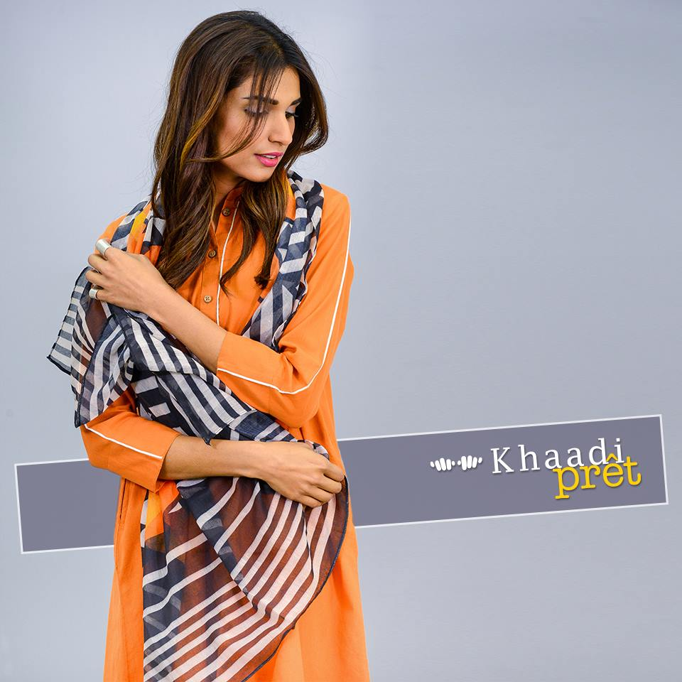 Khaadi Latest Women Summer Pret Dresses Collection 2016-2017 (2)