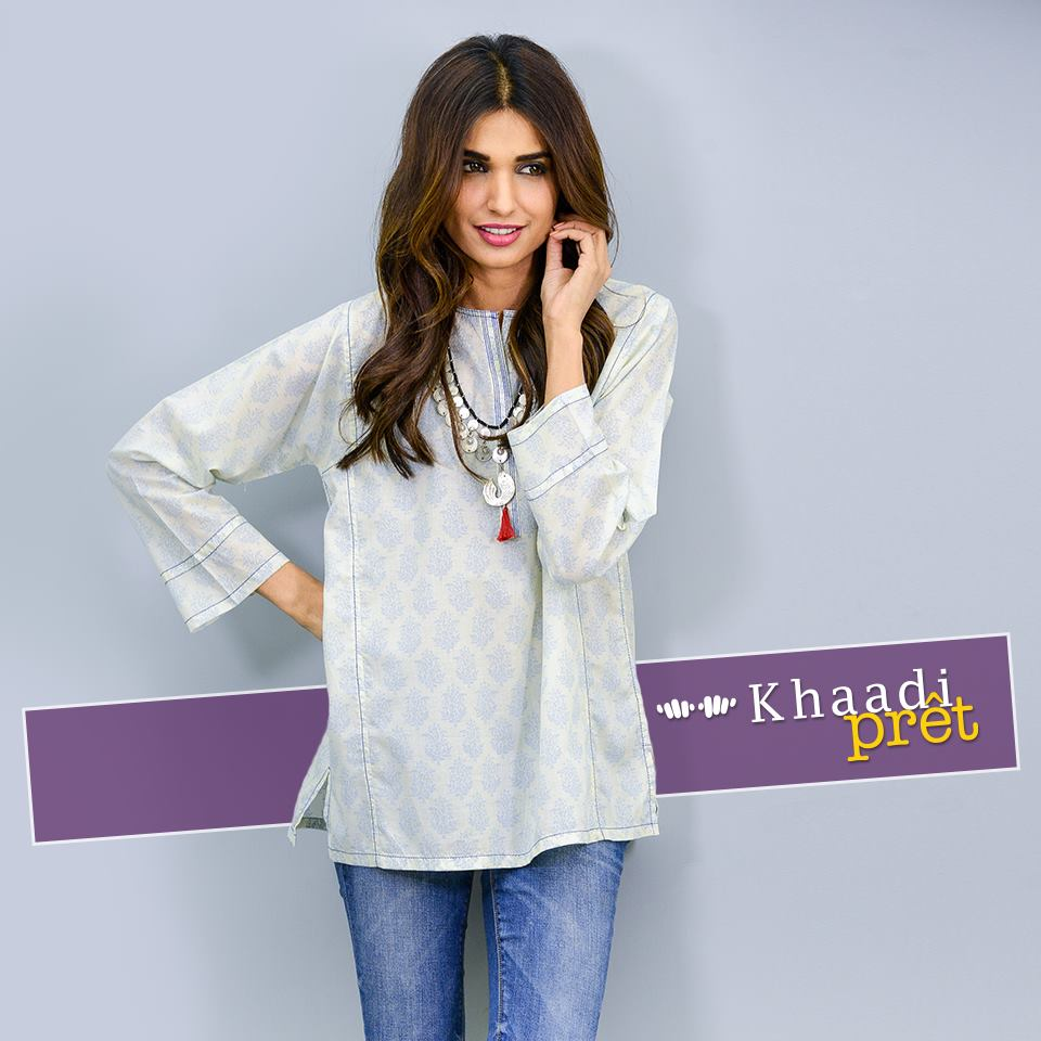 Khaadi Latest Women Summer Pret Dresses Collection 2016-2017 (3)