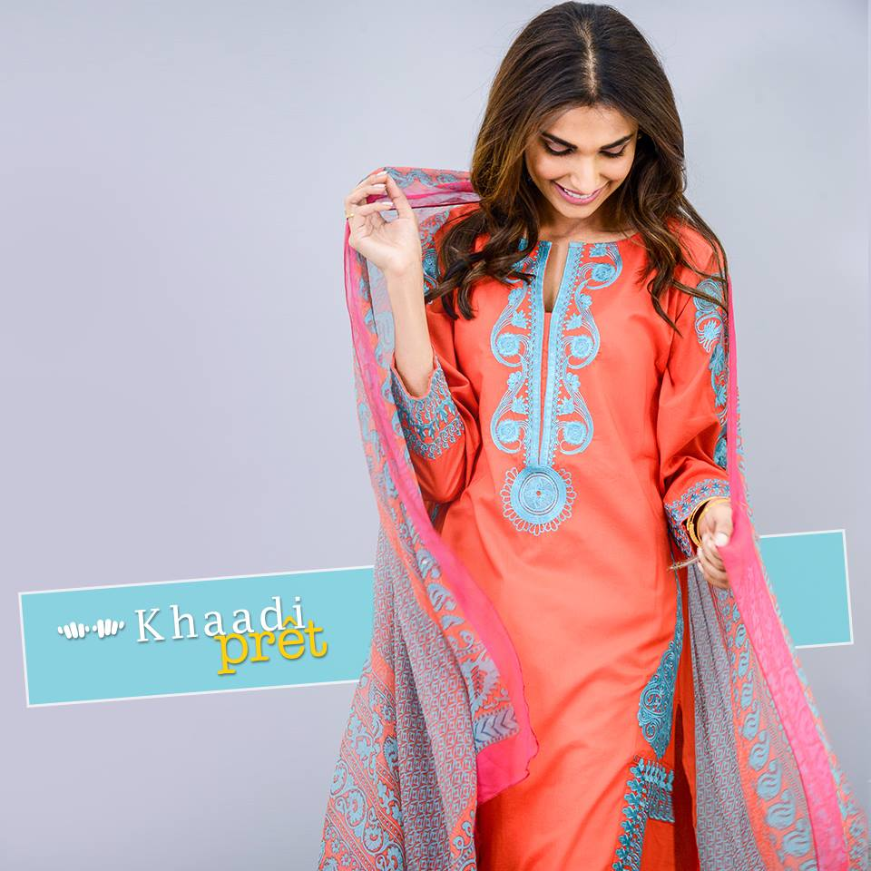 Khaadi Latest Women Summer Pret Dresses Collection 2016-2017 (4)