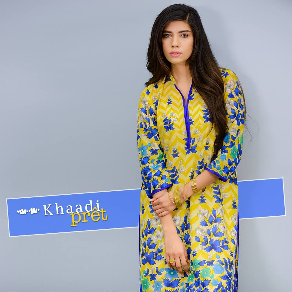 Khaadi Latest Women Summer Pret Dresses Collection 2016-2017 (5)