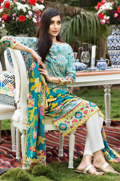 Khaadi Stylish Summer Lawn Dresses Collection 2016 2017