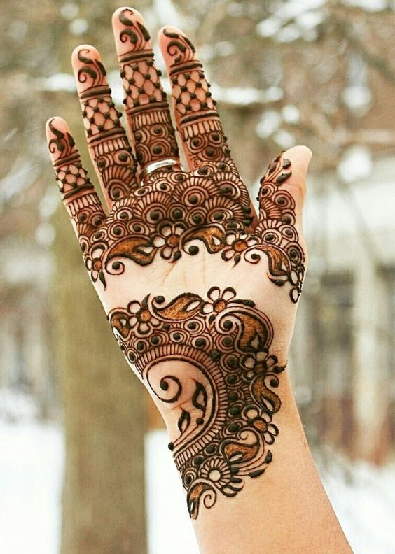 New Mehndi Patterns : Latest arabic mehndi designs collection  for