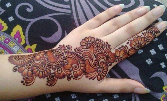 Latest Mehndi Hands : Latest arabic mehndi designs collection  for hands feet