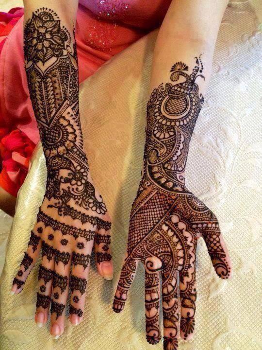New Bridal Mehndi Photos : Latest arabic heena mehndi designs collection