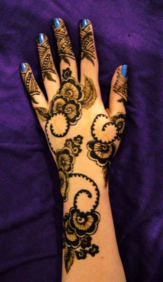 Mehndi Design New : Latest arabic mehndi designs collection  for
