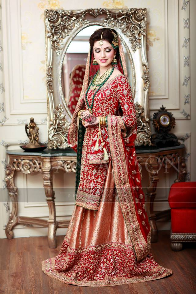 Latest Bridal Barat Wedding Dresses Trends 2016-2017 Collection (13)