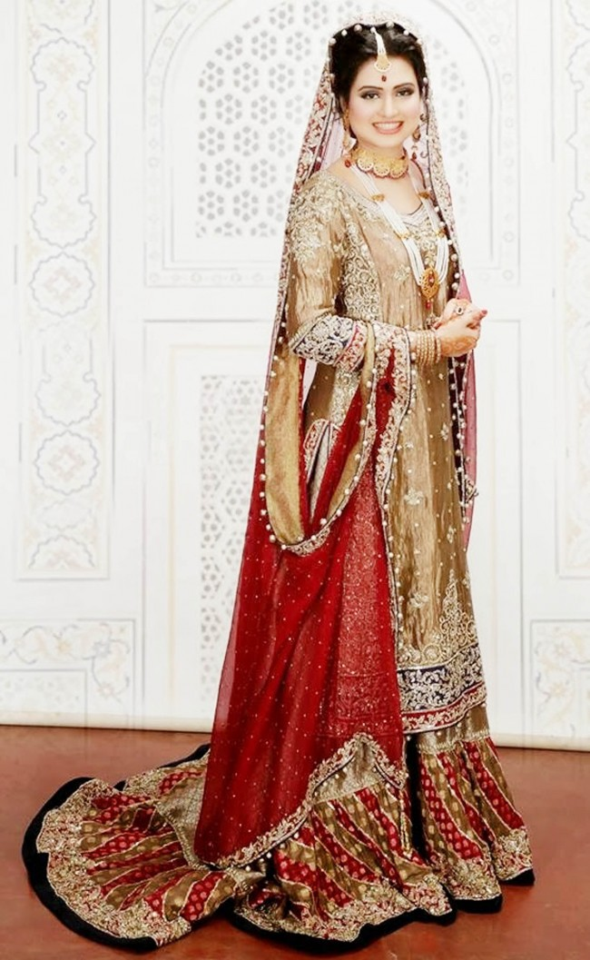 Best bridal barat dresses designs collection 2018 19 for for Current wedding dress trends