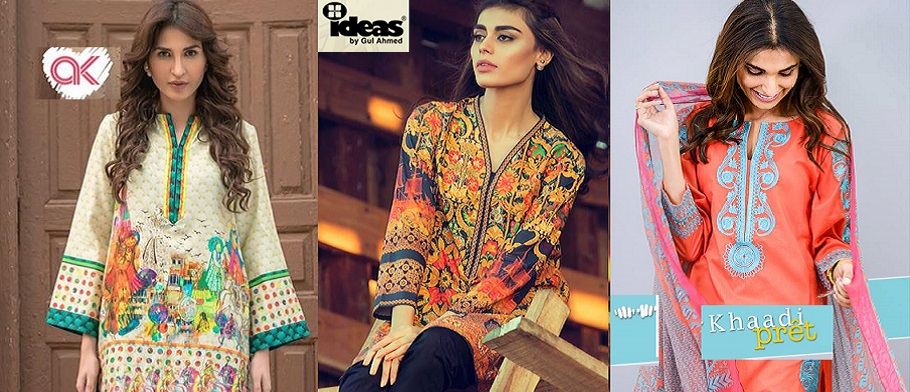 Latest Women Summer Pret Dresses Collection 2016-2017