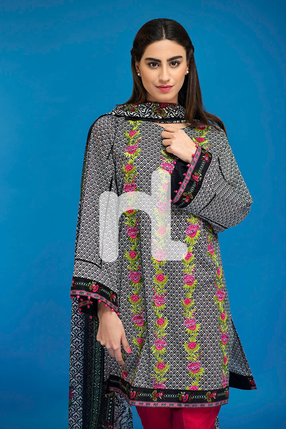 Lawn 3 piece- Nishan Linen Spring Summer Collection 2017-2018 Best Lawn Dresses (2)