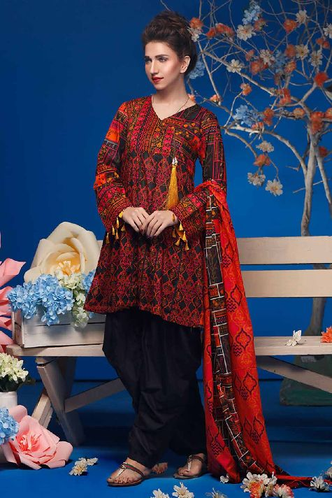 Printed Lawn- Warda Latest Summer Dresses Collection 2017-2018 (2)