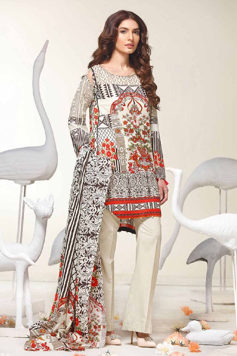 Printed Lawn- Warda Latest Summer Dresses Collection 2017-2018 (7)