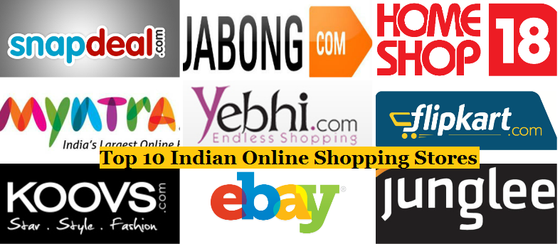 Top 10 Most Popular Best Indian Online Shopping Stores Websites