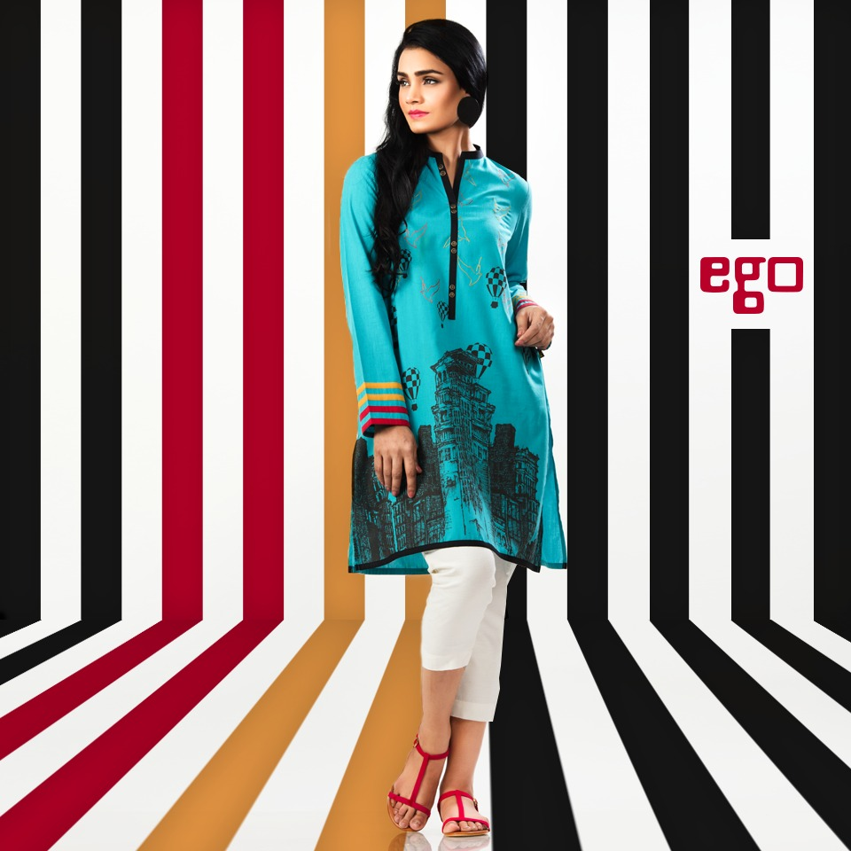 Ego Stylish Ladies Kurtas & Shirts Summer Collection 2016-2017 (11)