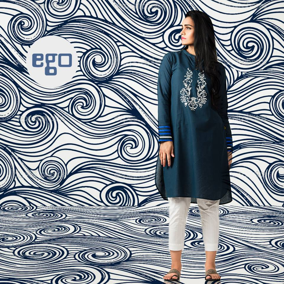 Ego Stylish Ladies Kurtas & Shirts Summer Collection 2016-2017 (9)