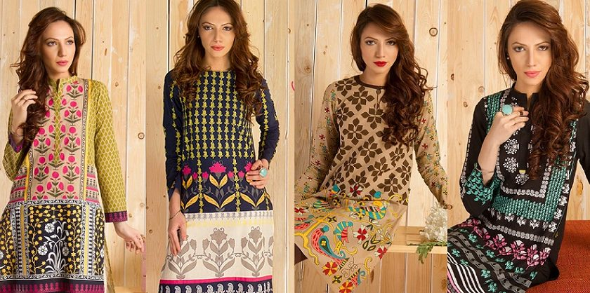 Ego Stylish Ladies Kurtas & Shirts Summer Collection 2016-2017