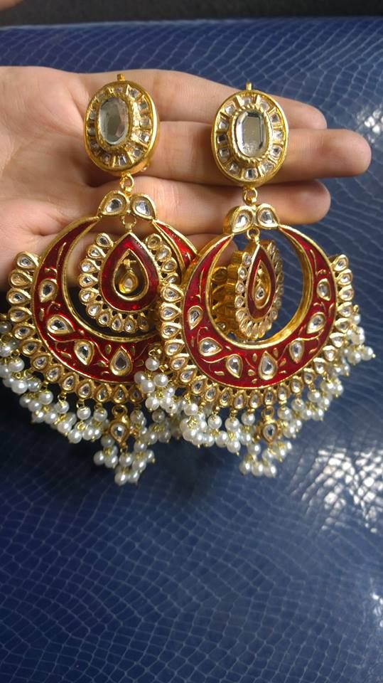 Kundan Jewellery Latest Designs & Trends for Asian Women- Jhumkas