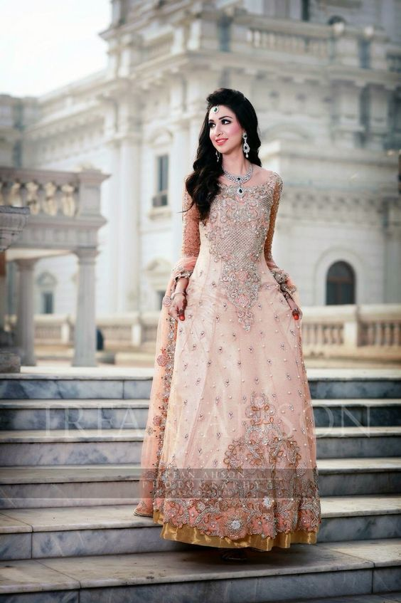 Latest Bridal Engagement Dresses Designs 2016-2017 Collection (19)