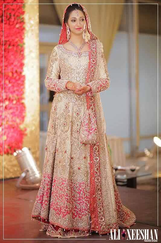 Latest Bridal Engagement Dresses Designs 2016-2017 Collection (7)