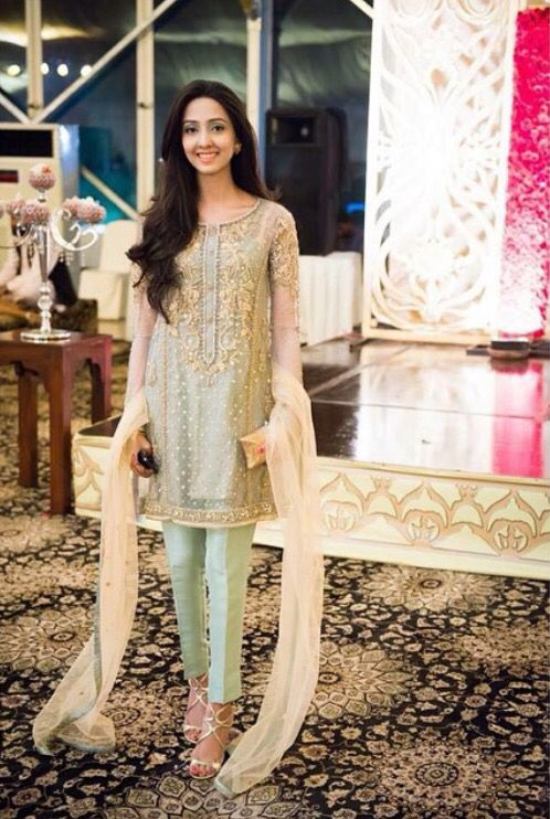 Latest Party Wear Embroidered Shirt Designs With Trousers