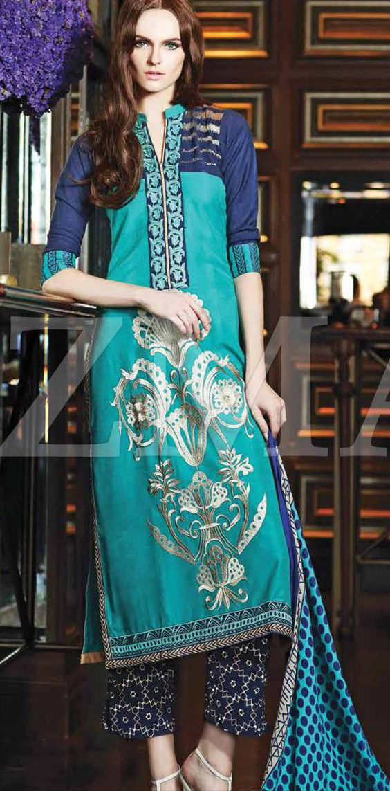 latest embroidered shirts with trousers 20162017 designs