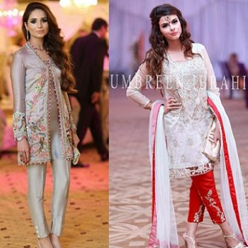 Latest Party Wear Embroidered Shirt Designs with Trousers- Pants Collection 2016-2017