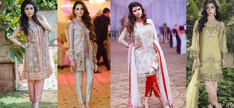 1763c2747d Latest Party Wear Embroidered Shirts with Trousers 2018-2019 Designs