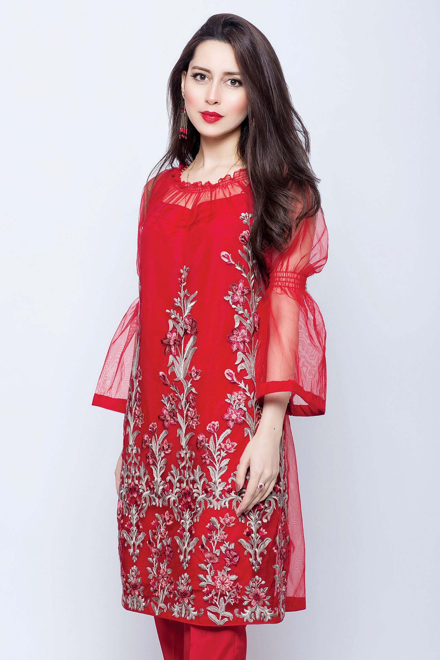 Latest Party Wear Embroidered Shirts 2018 2019 Designs