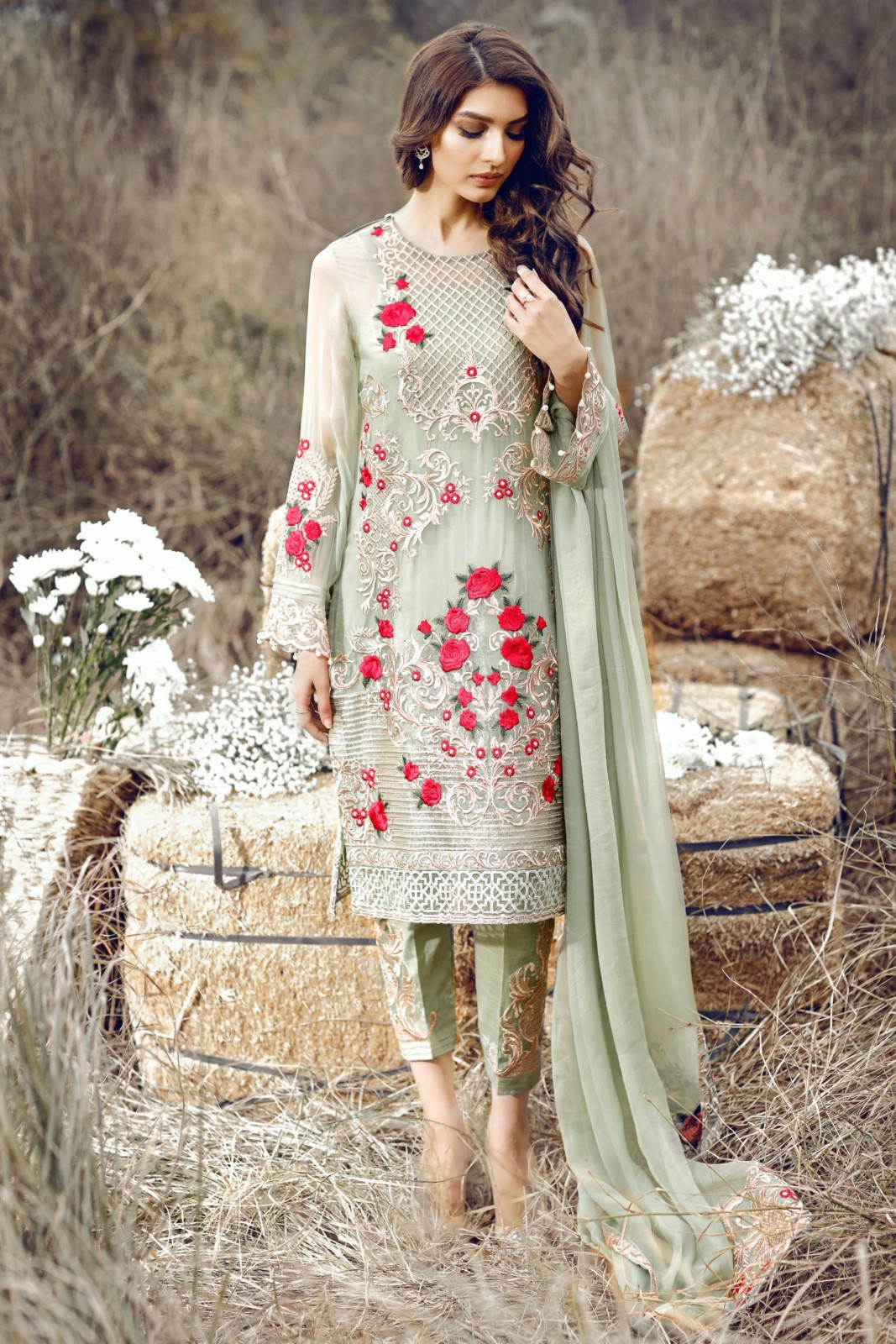 Latest Party Wear Embroidered Shirts 2018 2019 Designs Collection