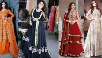 Latest Party & Wedding Wear Frocks Collection 2016-2017