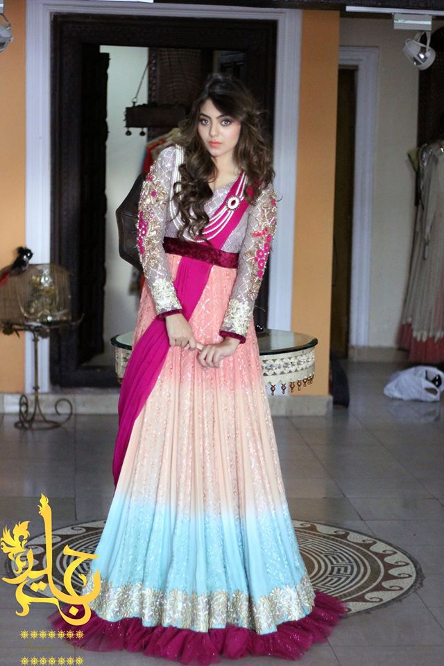 Latest Party Wear & Fancy Wedding Frock Designs Collection 2016-2017 (36)