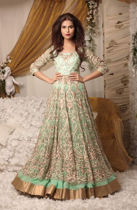 Latest Party Wear & Fancy Wedding Frock Designs Collection 2016-2017 (43)