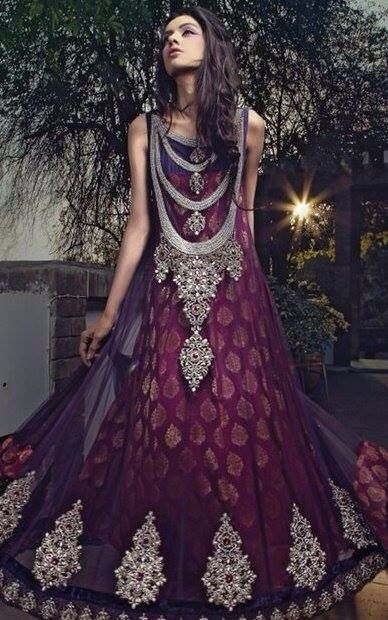 Latest Party Wear & Fancy Wedding Frock Designs Collection 2016-2017 (7)