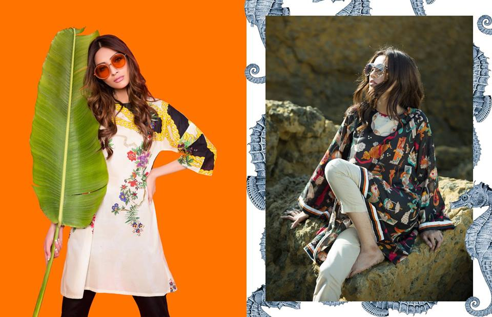 Sana Safinaz Ready To Wear Summer Dresses Collection 2018 2019