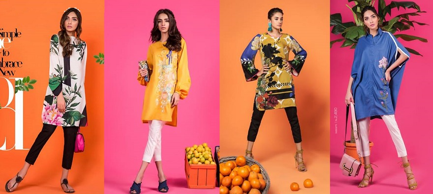 Latest Sana Safinaz Ready to Wear Summer Dresses Collection 2018-2019