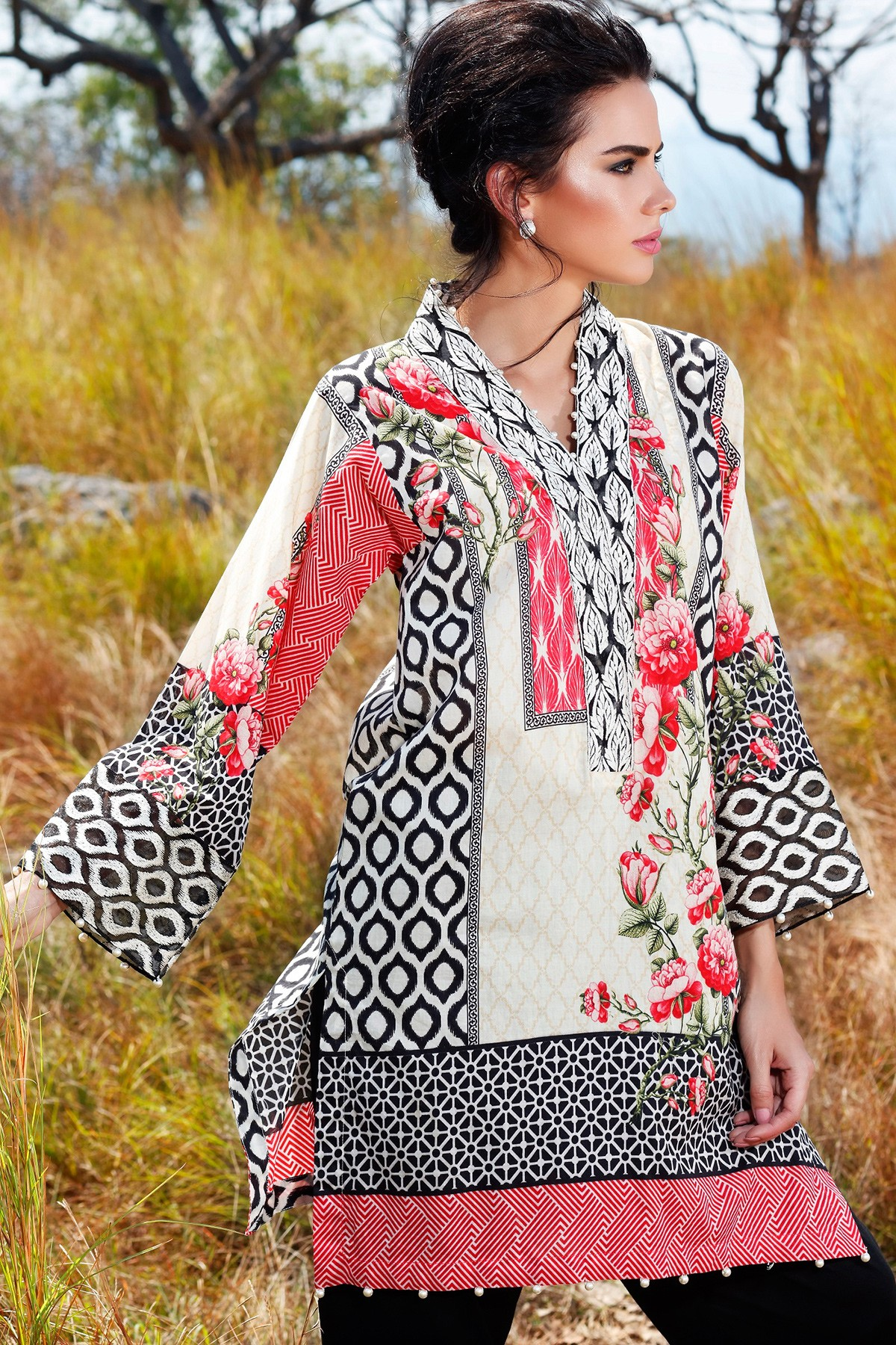 Latest Summer Kurti Designs & Tops by Origins Spring Collection 2017-18 (24)