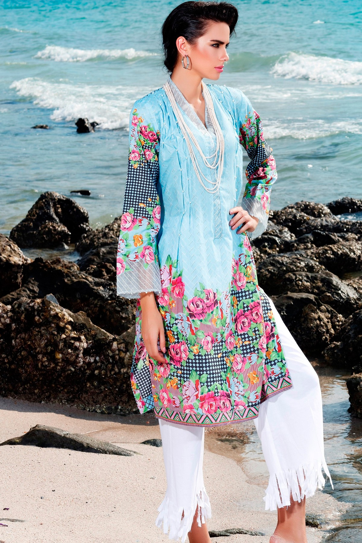 Latest Summer Kurti Designs & Tops by Origins Spring Collection 2017-18 (26)