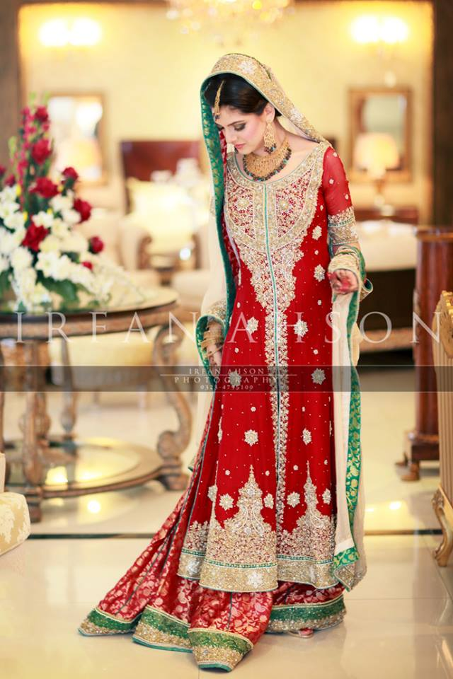 Latest Wedding Maxis Long Tale Dresses Designs Collection 2016-2017 (31)