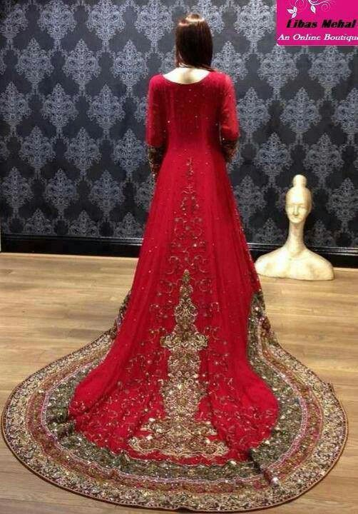 Latest Wedding Maxis Long Tale Dresses Designs Collection 2016-2017 (60)