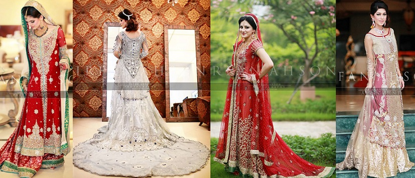 Latest Wedding Maxis Long Tail Dresses Designs Collection 2018 2019