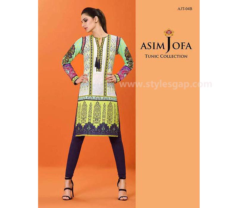 Asim Jofa Printed & Embroidered Tunics Designs Collection 2016-2017 (1)