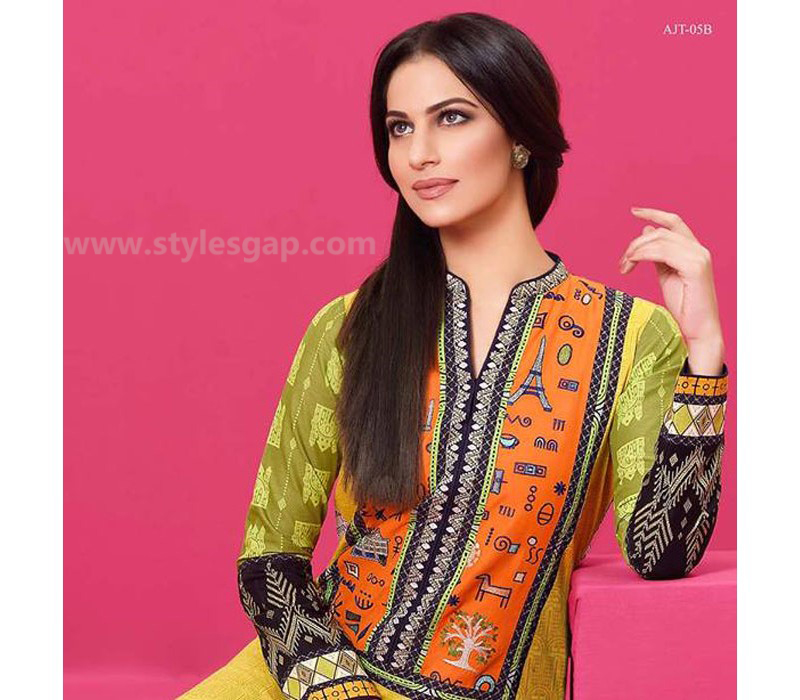 Asim Jofa Printed & Embroidered Tunics Designs Collection 2016-2017 (2)