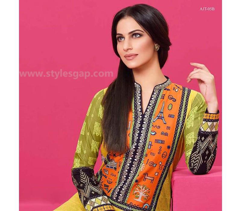 Asim Jofa Printed & Embroidered Tunics Designs Collection 2016-2017 (2)